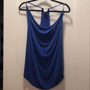 Like new Haute Hippie slouchy neck tank,royal blue